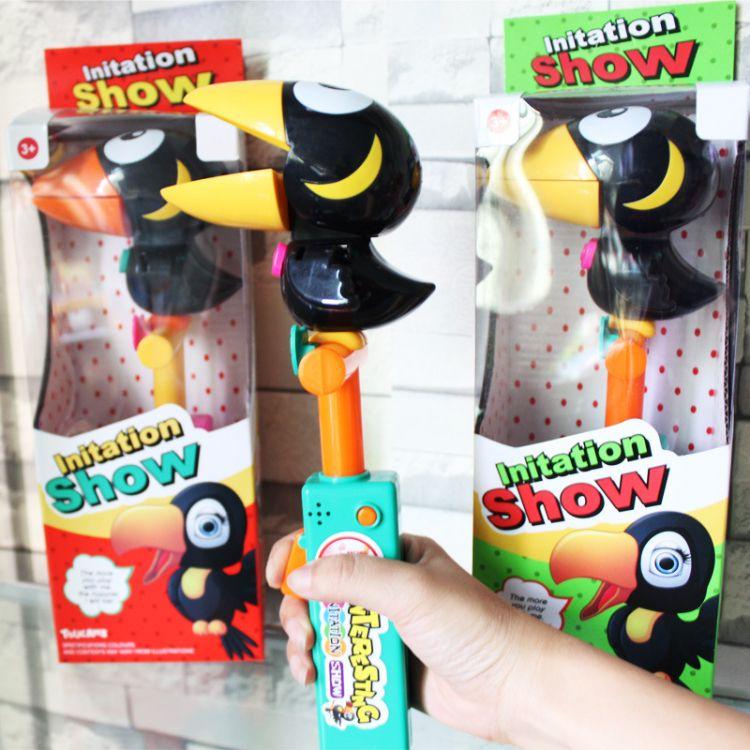 YLH36209开窗盒独立包装录音大嘴鸟 鸭鸭鸟模仿秀 搞笑新奇特玩具