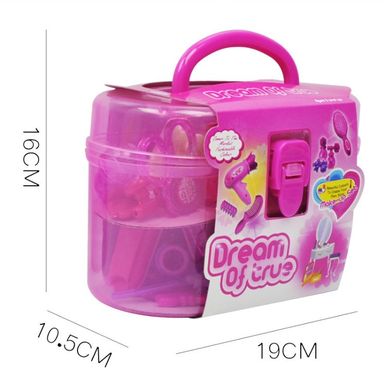 跨境电商 女孩饰品过家家儿童玩具 仿真吹风筒美容美发梳妆套装