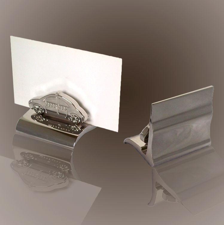 供应高档金属小汽车名片夹创意小车桌面金属名片架合金名片座