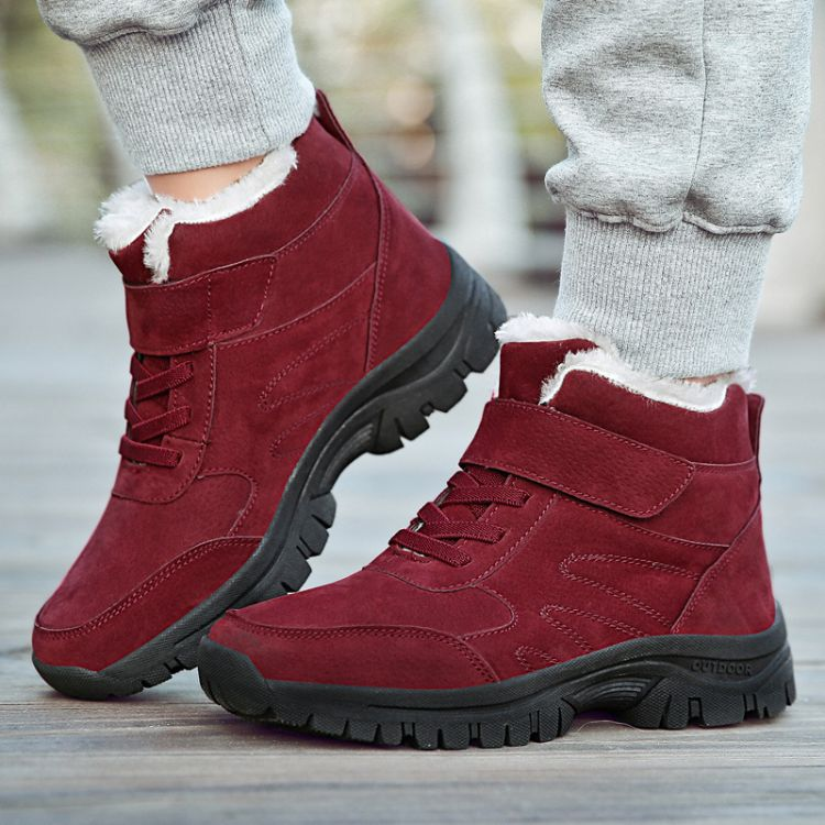 冬季加绒保暖运动鞋女户外雪地鞋中老年防滑加厚棉鞋妈妈鞋大码鞋