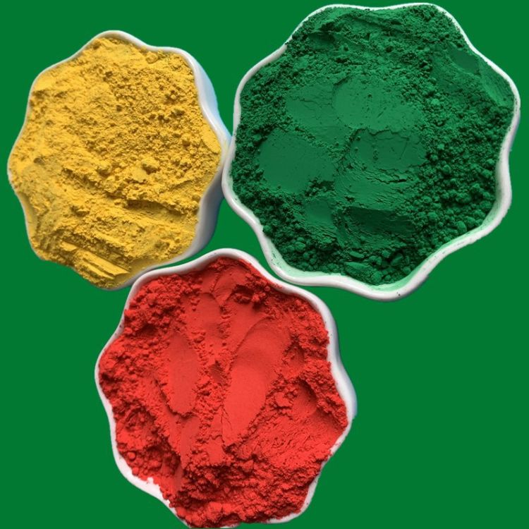 氧化铁颜料 深绿 浅绿 染色填充着色 地砖水泥用 耐磨耐酸