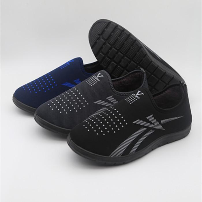 冬季老北京布鞋加绒加厚父亲健步鞋高帮防滑老头鞋中老年男士棉鞋