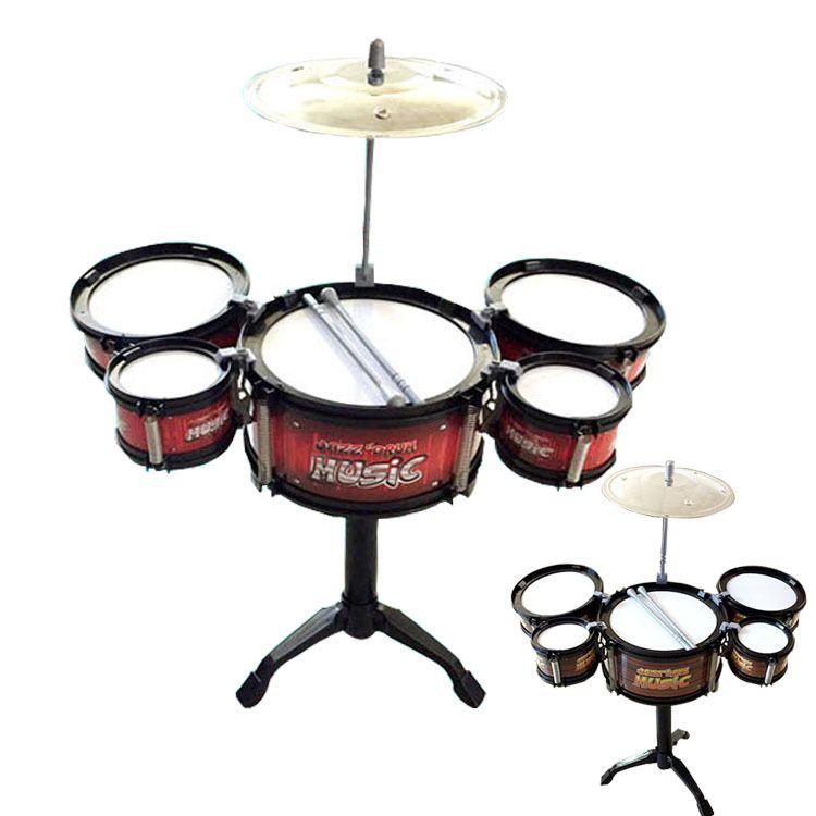 儿童仿真爵士鼓玩具小号架子鼓音乐乐器玩具鼓热卖地摊货源