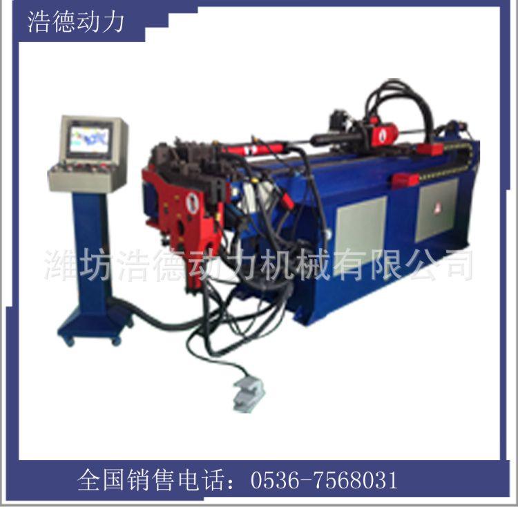 河南弯管机厂家直销 金属油动CNC-50全制动弯管机圆管全自动弯