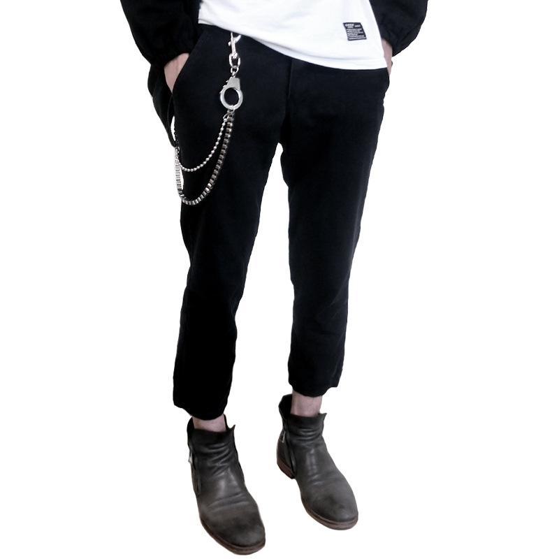 非主流嘻哈潮人蹦迪裤链 防身女腰皮带钥匙链INS网红裤链玩物配件