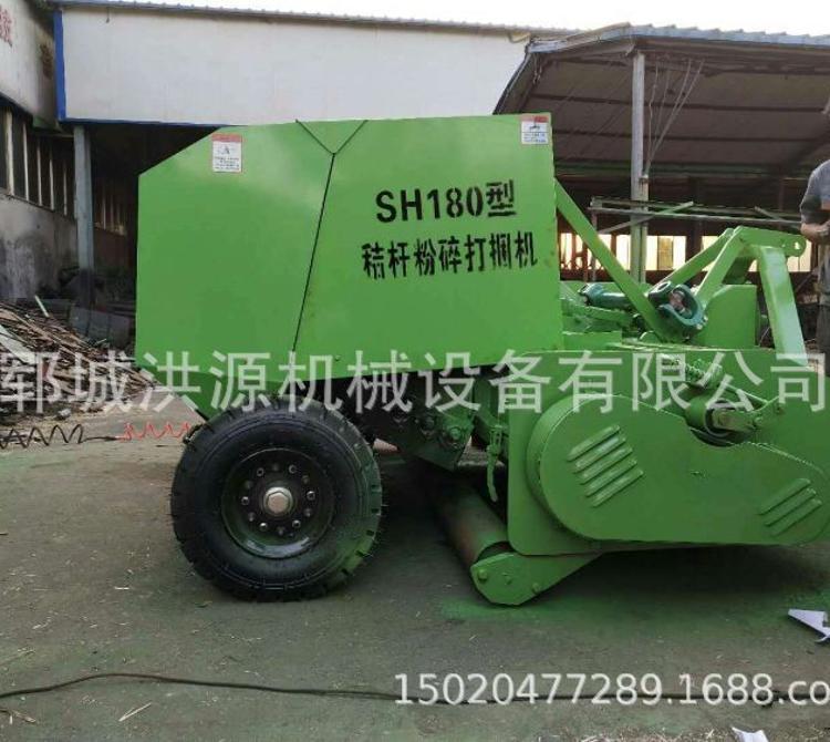 新型拖拉机带动小麦-牧草-玉米-稻草等粉碎捡拾打捆机