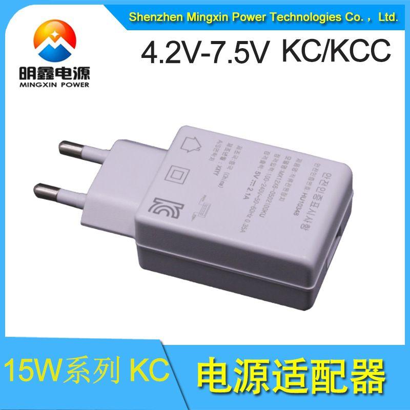 5V1A电源适配器 5V1A韩规过KC认证充电头 明鑫电源