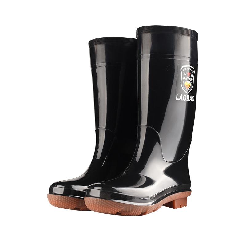 男士高筒劳保塑胶雨鞋男牛筋底长筒雨靴防油耐酸碱胶鞋工地水鞋男