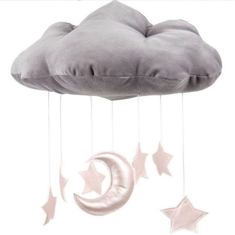 INS定制儿童家居 云朵月亮挂饰 婴儿床 帐篷配饰 场景拍照道具