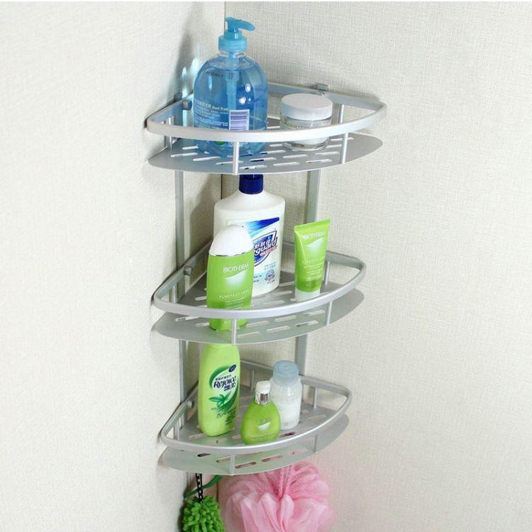 [厂家批发]卫生间浴室置物架太空铝 卫浴五金挂件三角架壁挂
