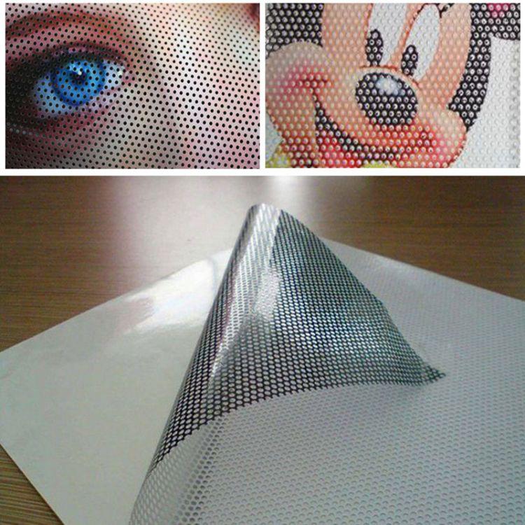 供应单透贴_单透贴黑胶窗户贴玻璃单透贴户外单透写真喷绘制作