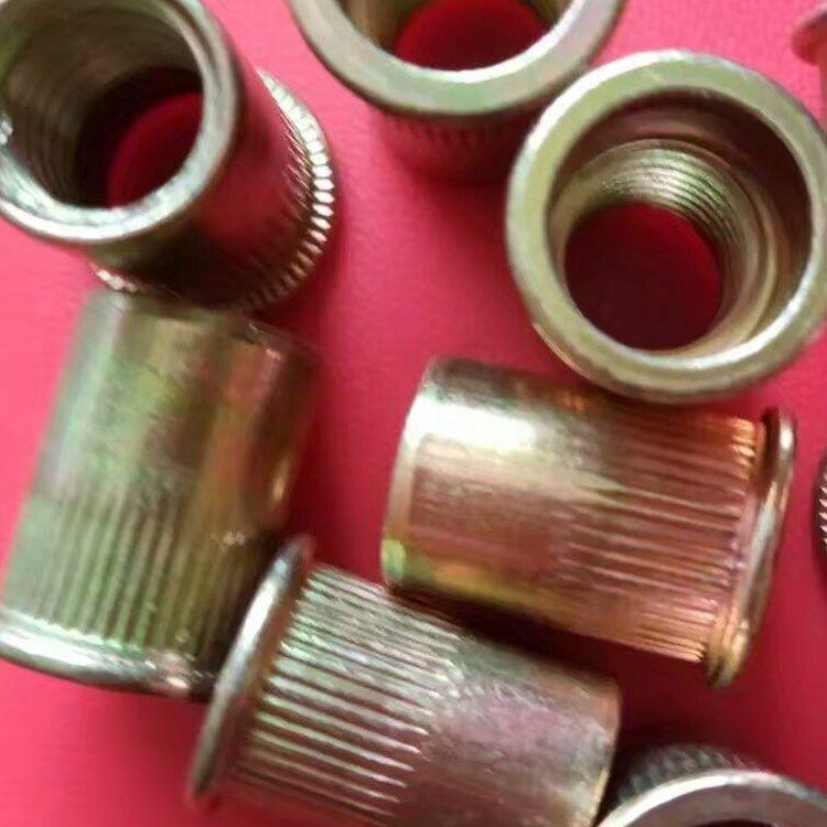厂家直销 镀彩锌铆螺母 镀白锌铆螺母 本色铆螺母 异型螺母