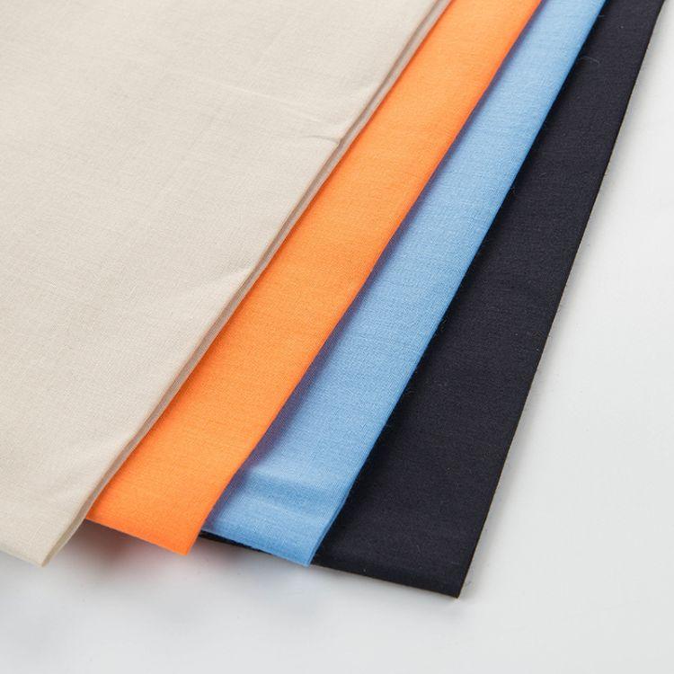 厂家供应民族布府绸 定制仿天丝衬衫兜布春款面料 染色服装布料
