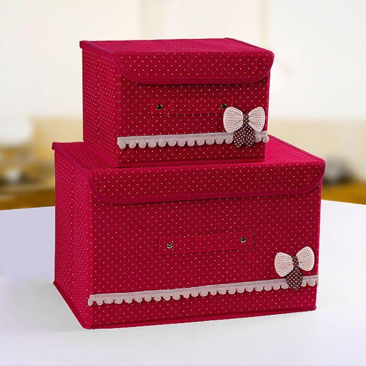 一件代发扣扣玩具收纳箱 康艺无纺布收纳箱 整理箱 床底折叠箱 布艺