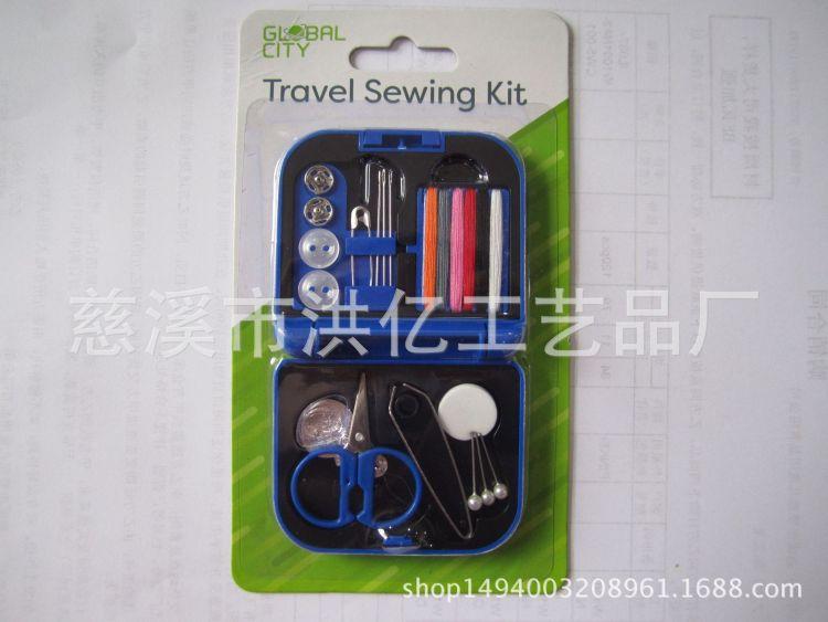 塑料针线盒 便携式迷你针线盒套装 裁缝小工具厂家直销