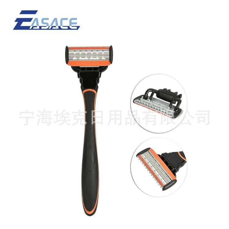 金属手柄5层刀片1刀架1刀头可替换男士剃须手动刮胡刀刮胡器