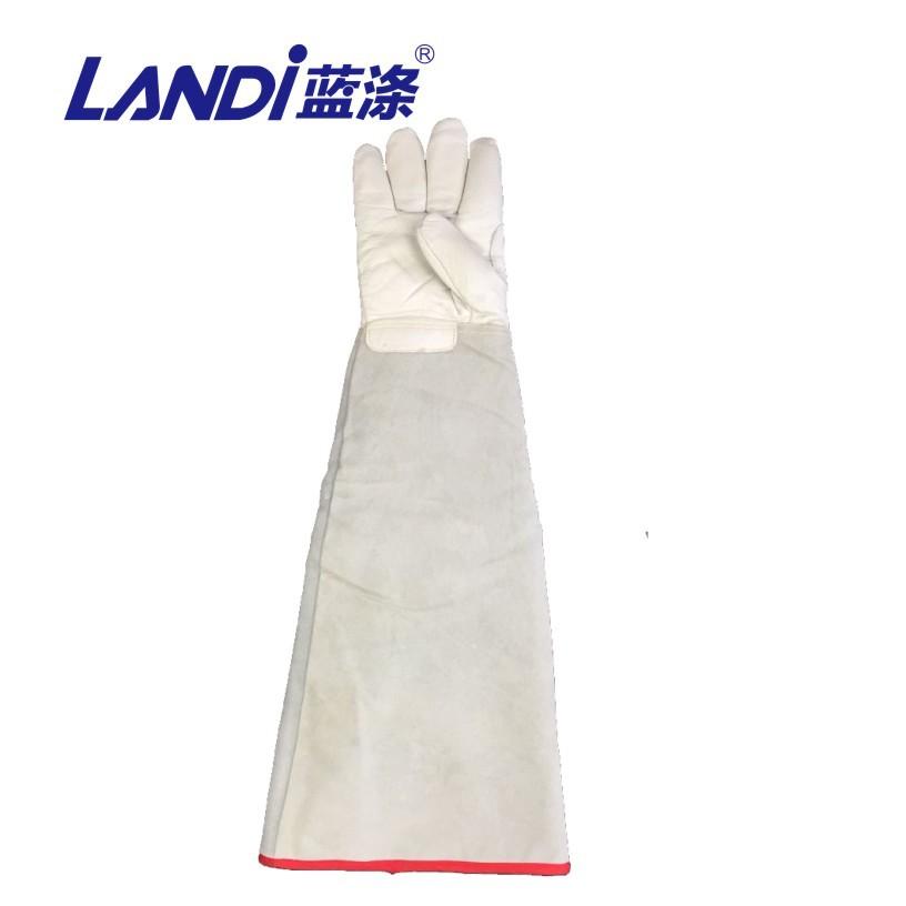 蓝涤牌70cm 低温液氮 液氨 液氧 防冻防寒 LNG牛皮防护手套