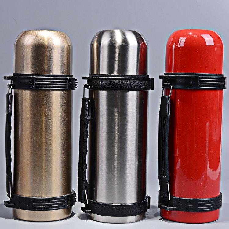 新款不锈钢双层保溫杯 创意保温杯子可手提礼品保温壶厂家直销