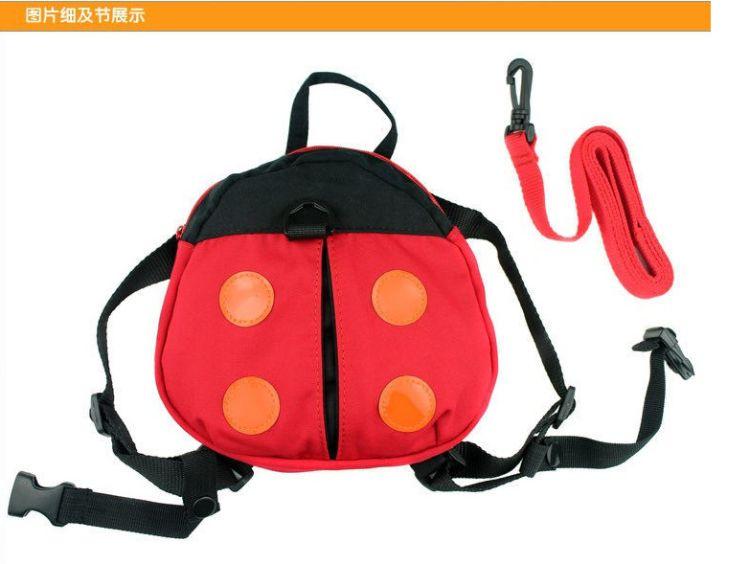 儿童瓢虫防走失包 婴儿甲壳虫学步带 可爱蝙蝠小书包防走失带批发
