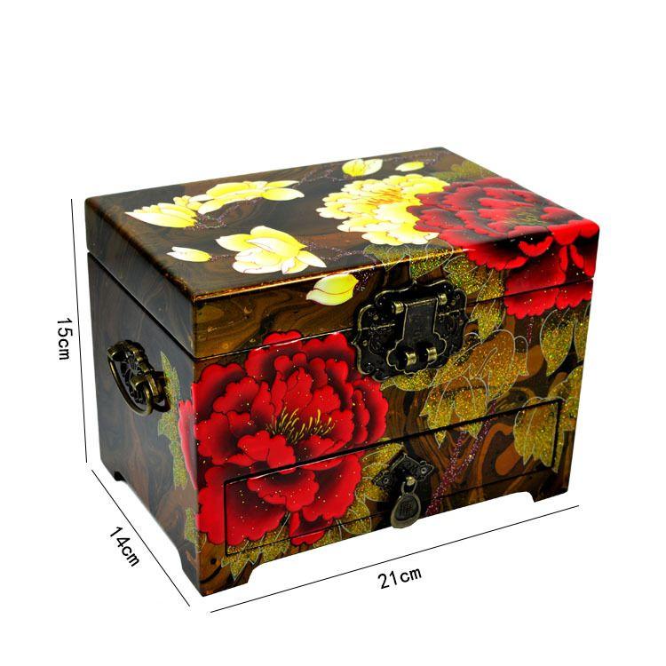 太原平遥推光漆器漂漆堆鼓抽屉首饰盒婚庆嫁妆礼品工艺品现货