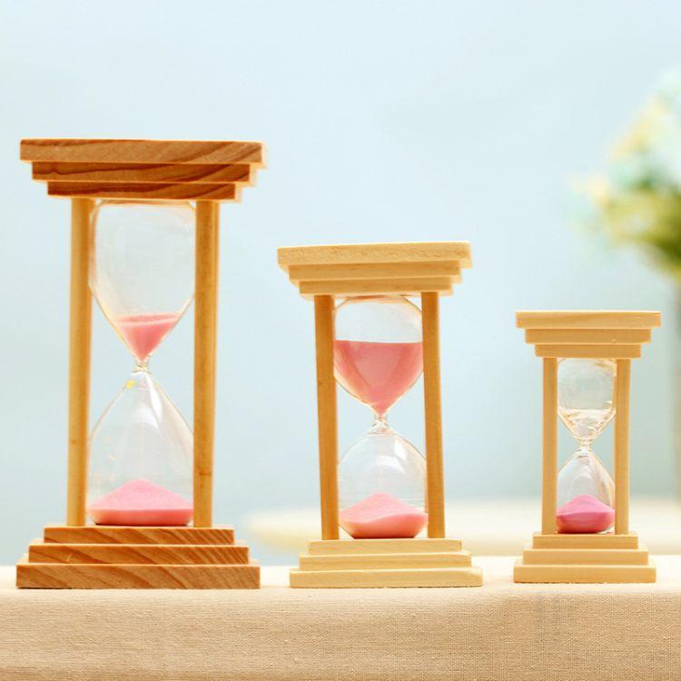 方形木质沙漏5/10/15分钟泡茶煮汤计时器 送朋友礼品办公桌面摆件