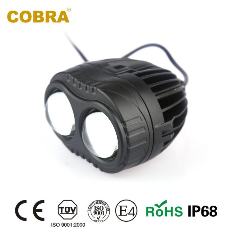 cobra汽车LED千里眼射灯超远射程越野改装工作灯前射灯019白光