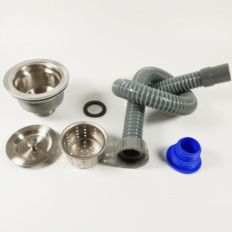 厨房排水管洗菜盆下水器套装下水管加长单槽水池水槽配件防臭落水