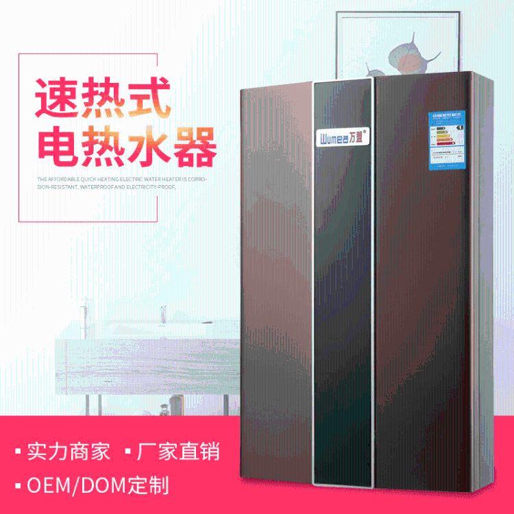 厂家直供家用电热水器沐浴即热式新款挂壁式智能断电恒温电热水器