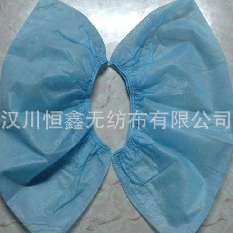一次性无纺布鞋套防滑隔离白色蓝色方口全筋