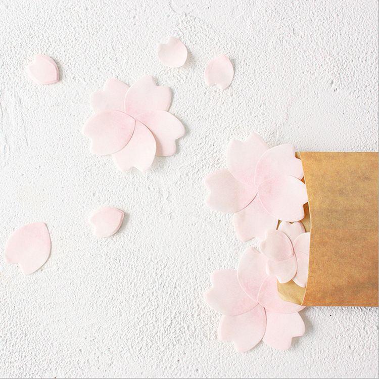 小樱周边小清新樱花花瓣便利贴异形便利贴 留言记事N次贴动漫周边
