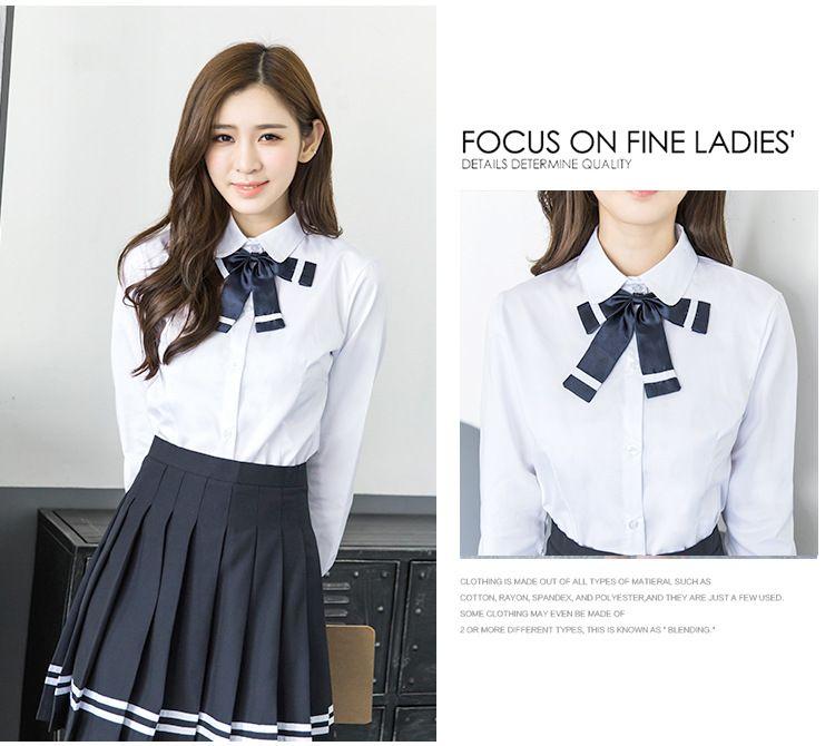 日韩水手服 青春学生校服套装春夏白衬衫制服 女生英伦班服学院风