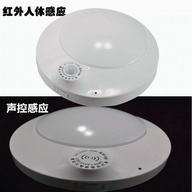 厂家直销LED感应灯15W红外感应吸顶灯LED声光控过道灯防蚊吸顶灯