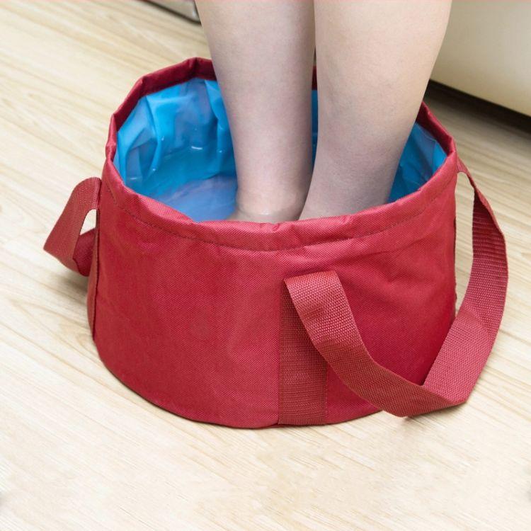 折叠脸盆水盆洗脸盆洗衣盆泡脚盆钓鱼桶便携水桶旅游车用户外用品