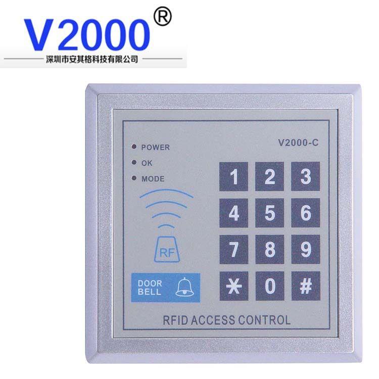 v2000-c单门门禁一体机 ID卡加密码门禁简易门禁
