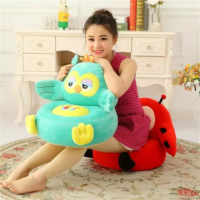 厂家直销卡通懒人动物小号沙发客厅青蛙坐椅毛绒玩具儿童生日礼物