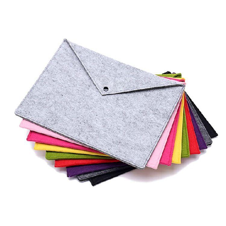 毛毡文件袋  新款毛毡文件包 定制多种颜色涤纶毛毡包 低价批发