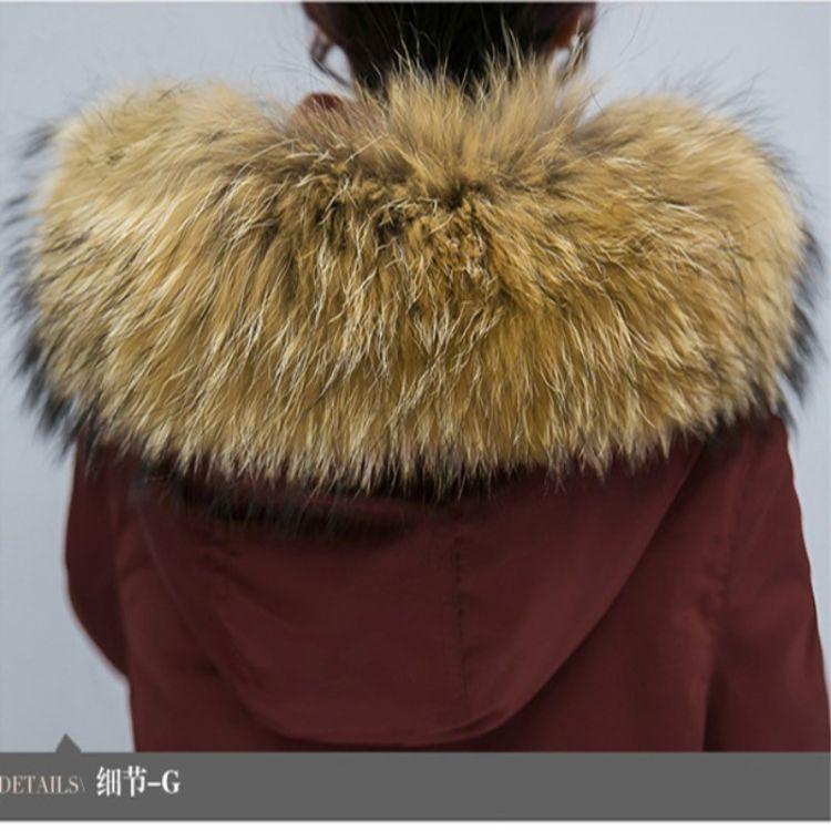 冬季皮草貉子毛领子 羽绒服毛领 鞋口袖口帽条貉子毛领子厂家直销