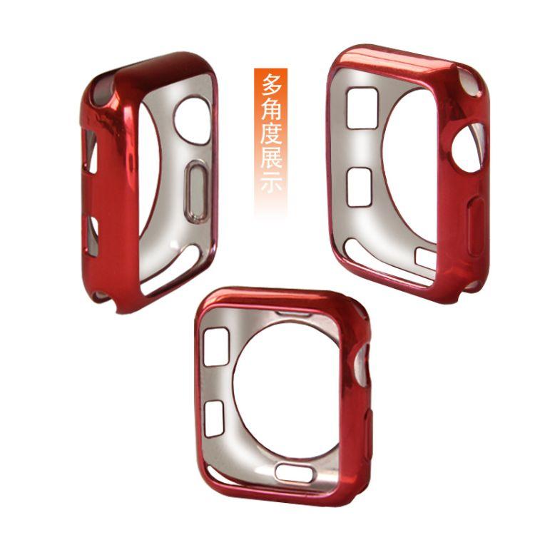 适用apple watch 保护壳苹果智能手表TPU电镀3代保护套