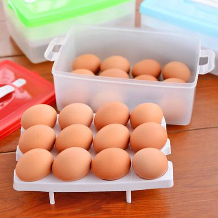 廠家批發雞蛋盒廚房塑料保鮮盒冰箱食品餃子收納盒多功能儲物盒收納盒