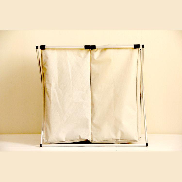 家居铝框收纳筐衣服玩具收纳整理箱 加厚折叠牛津布脏衣篮