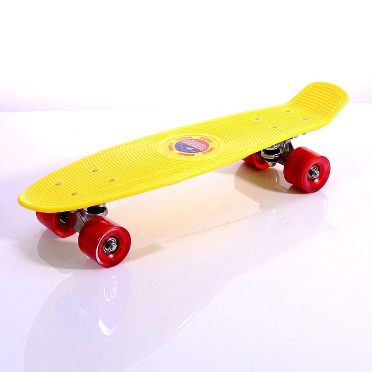 儿童四轮滑板极限运动代步刷街滑板 单翘小鱼板香蕉板