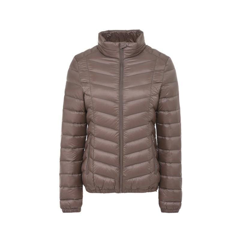 2017新款春秋羽绒服轻薄款女短款修身显瘦立领冬装轻型外套