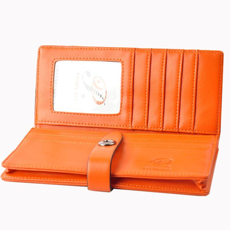 厂家直销新款韩版按扣纯色小包长款零钱包女士钱包卡包生产 批发
