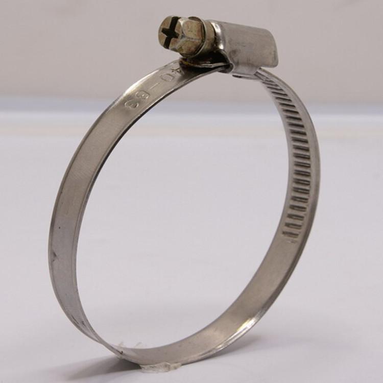 厂家专业生产304不锈钢美式喉箍 抛光强力喉箍尺寸 拉线电力抱箍卡箍