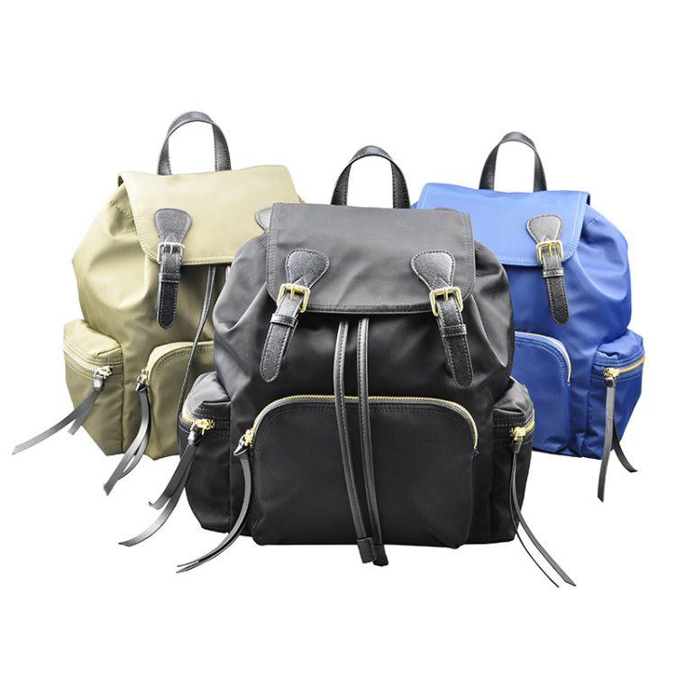 产地货源女式背包 防水双肩女包定制 休闲式包包工厂