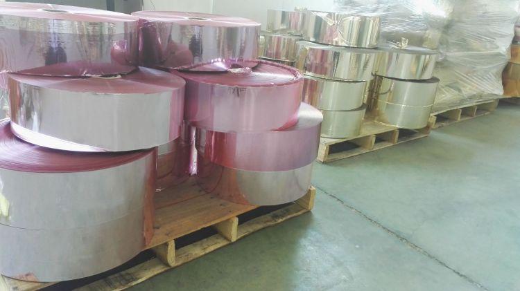 厂家直供 耐高温 3.6丝金葱粉原膜 金葱粉原材料 PET双面彩膜