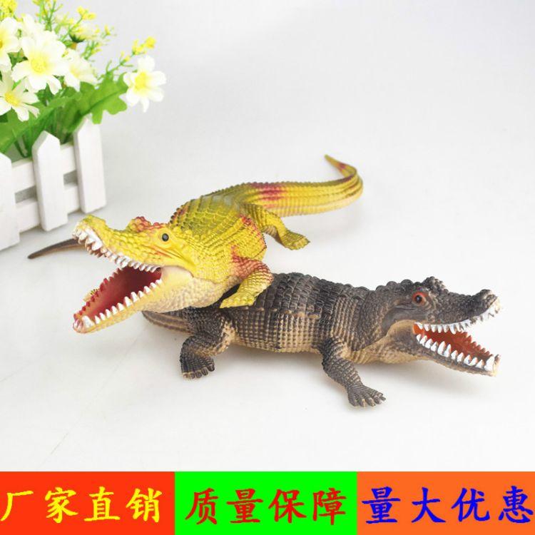 仿真鳄鱼模型玩具 发声搪胶鳄鱼 整人整蛊发泄小玩具地摊货源批发