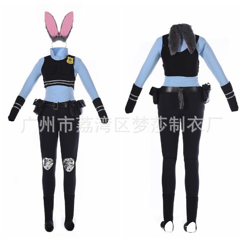 动漫朱迪兔服装cosplay女 兔子警官cos服角色扮演游戏制服拟人服