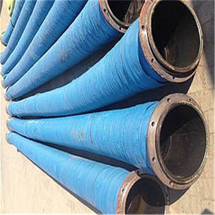 德利抗撕裂拉伸大口径胶管 除锈耐磨喷砂胶管 船用抽沙胶管厂家