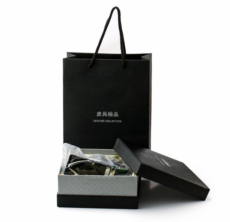 厂家直销一件代发双层绸布礼盒加礼袋套装 军工刀冲钉皮带配件
